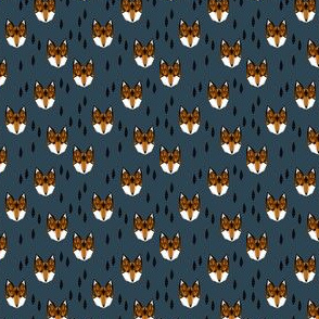 fox head // small tiny print geometric fox head fabric by andrea lauren