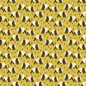 geo panda // tiny print small geometric panda print by andrea lauren