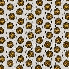 lion head // lion head fabric small tiny print tiny print by andrea lauren