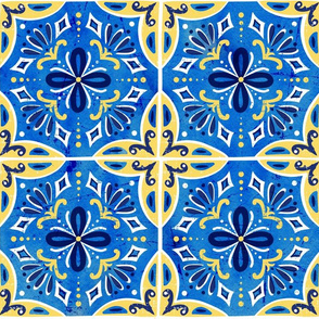 Sevilla - Spanish Tiles Blue & Yellow