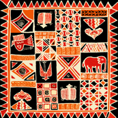African Tribal Collage