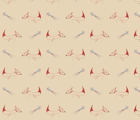 twirling fox 2 fabric by alittlemonster on Spoonflower - custom fabric