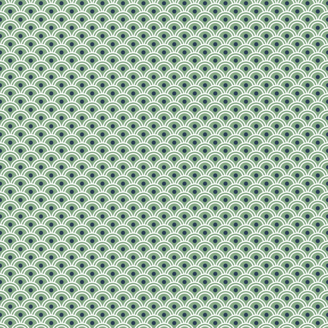 Scales - WhiteNavyGreen fabric by piecefulbee on Spoonflower - custom fabric