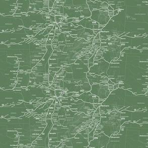 Green Train Route Map