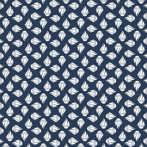 TGS Flames - White on Navy