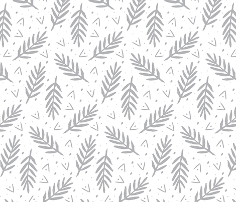 Gray Brushed Palm fabric by peanut_press on Spoonflower - custom fabric