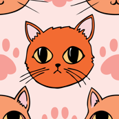 Kitty love (bright color palette)