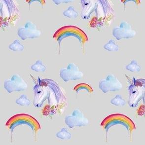 Watercolour Unicorn and Rainbows
