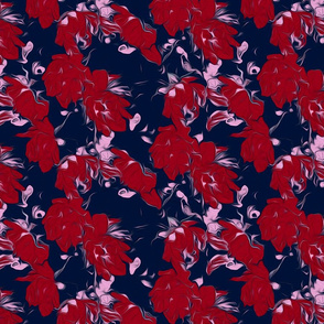 Orchid Red Flurries