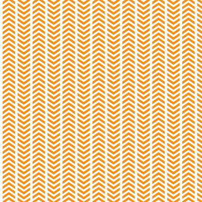 Playful Broken Chevron Orange