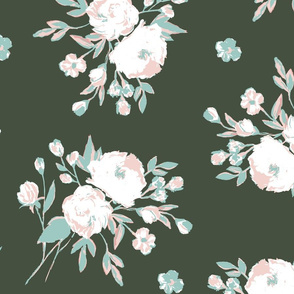 Rustic Floral-Olive and Mint