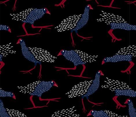 Pukekos fabric by melarmstrongdesign on Spoonflower - custom fabric