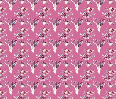 "Marsala Boho on Pink 4"" fabric by greenmountainfabric on Spoonflower - custom fabric"