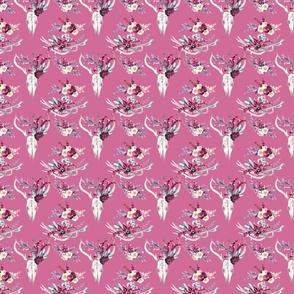 "Marsala Boho on Pink 4"""