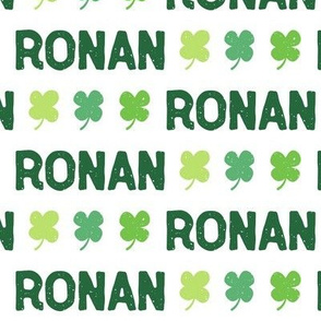 Clover Personalized Name // St. Paddy's Day - Ronan