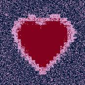 Tiny Burgundy Hearts