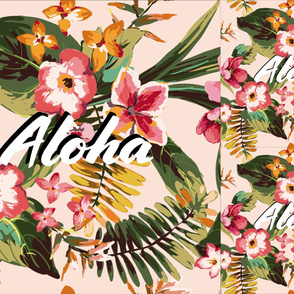 Aloha Tropical Flowers Hawaii Palm Leaves // Blanket + 2 Loveys