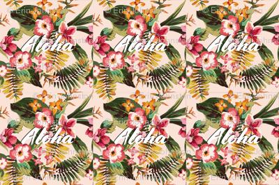 Aloha Tropical Paradise Palm Leaves Tropical Flowers // 6 Loveys