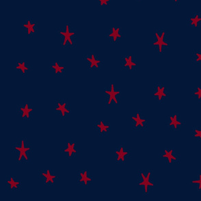 orchid and navy wonky stars red on navy