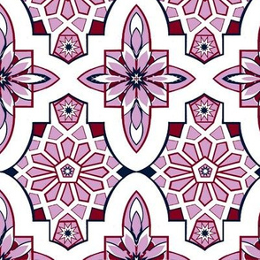 Moroccan Lavender Tile // Marrakesh Tiles // Lilac Moroccan Tile Wedding Flowers