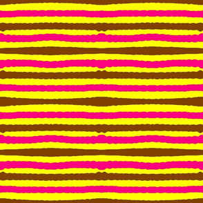 Mstari 6 Stripe in Pink Yellow & Brown