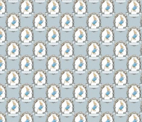 peteroval_medblue_peeledpaintbg fabric by aspenartsstudio on Spoonflower - custom fabric
