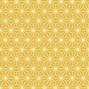 Small Six-Pointed Flower with Dots - Yellow
