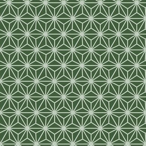 Small Six-Pointed Flower with Dots - Green