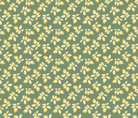 leafy-leaves-resquared-sf fabric by margiecampbellsamuels on Spoonflower - custom fabric