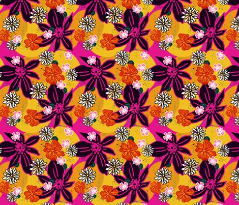 Flower Power fabric by woodyworld on Spoonflower - custom fabric