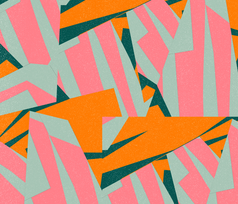 Color Structure: Pink, Orange, Green, Blue fabric by jpoundstone on Spoonflower - custom fabric