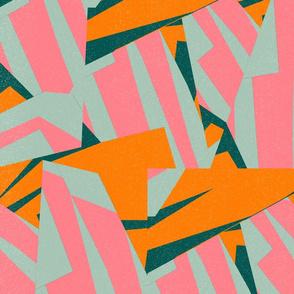 Color Structure: Pink, Orange, Green, Blue