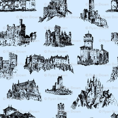 Castles on Light Blue // Large