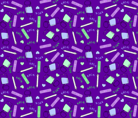 2018 NICU Purple fabric by hot4tees_bg@yahoo_com on Spoonflower - custom fabric