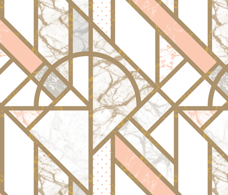 Art Deco Marble by Mount Vic and Me fabric by mountvicandme on Spoonflower - custom fabric