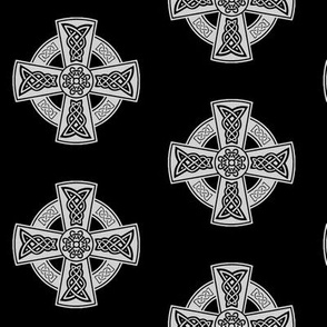 Ornate Celtic Cross // Black & Grey // Large