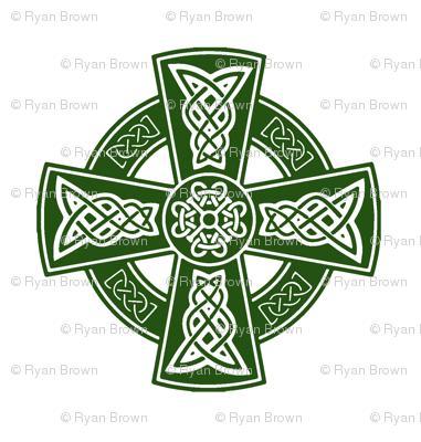 Ornate Celtic Cross // Emerald // Small