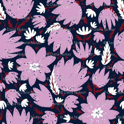pink blooming florals