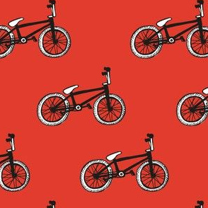 BMX bikes black, white and red