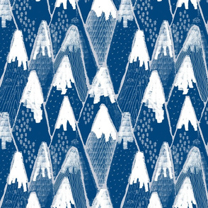 Snow mountains // blue and grey