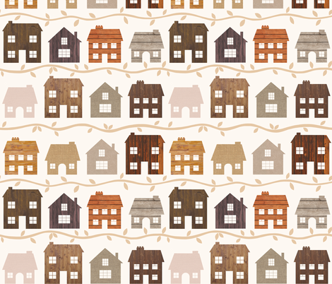 Modern Country Farmhouses fabric by thewellingtonboot on Spoonflower - custom fabric