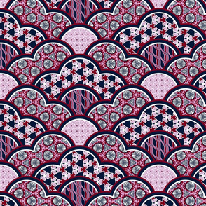 oriental patchwork