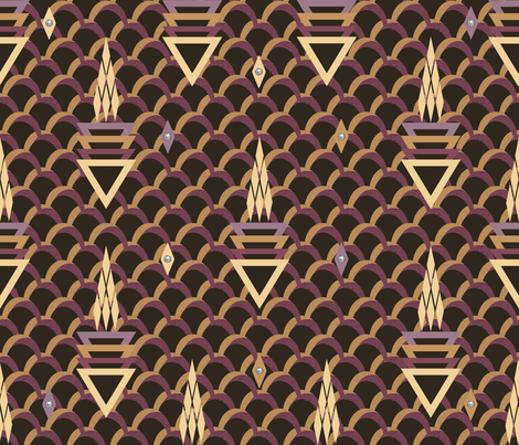 Art Deco Thunderstorm fabric by anniedeb on Spoonflower - custom fabric