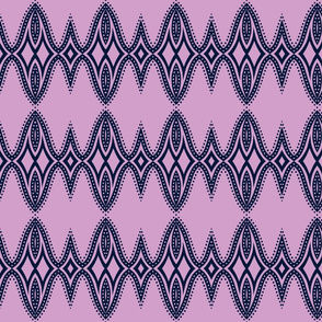 orchid and navy pattern