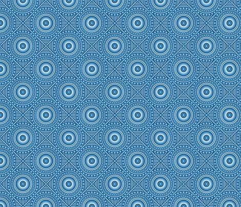 Indigo Lattice fabric by enid_a on Spoonflower - custom fabric