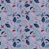 Orchid and Navy - Spoonflower_Feb 2018