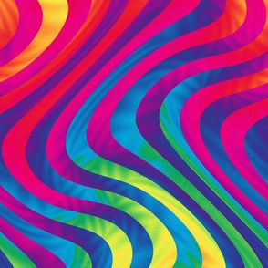 swirling rainbow stripes
