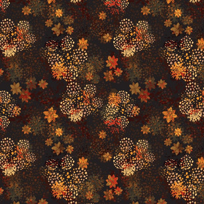 Orange & brown floral pattern