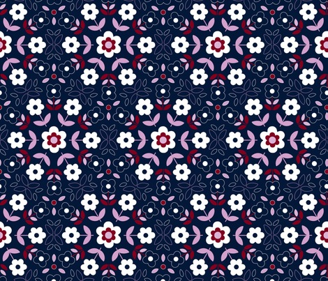 Rrrrrrretro-flower-mandala-orchid-and-navy-150-7-inch-wide-block-hazel-fisher-creations_contest173725preview