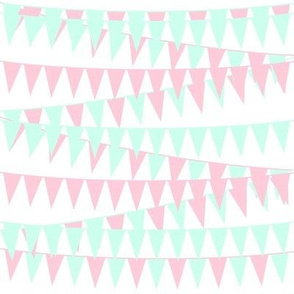 Baby Girl Bunting-Mint